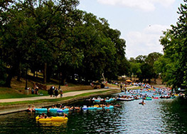 Float the Spring-fed Comal River in New Braunfels, TX