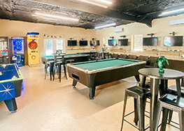 Indoor, Air-Conditioned Game Room enjoyed by Kids of All Ages.