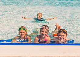 Take the Worry Away with Shallow Pool next to the deeper pool ... we have your family covered.